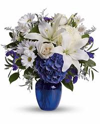 Beautiful Flower Arrangements by Cranford Florist And Gifts U0027s Beautiful In Blue Flower Arrangement