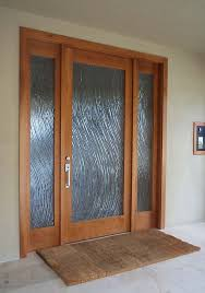 Etched Glass Exterior Doors Furniture Etched Glass Single Exterior Door With Solid