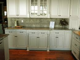 painted white kitchen cabinets wooden countertops mix unique brown