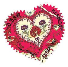 timbre poste mariage nos passions envahissent notre faire part mademoiselle dentelle