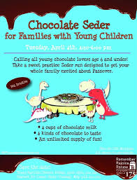 seder for children chocolate seder for families with childrencongregation