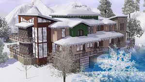 Winter House The Sims 3 House Building Winsen 11 Youtube