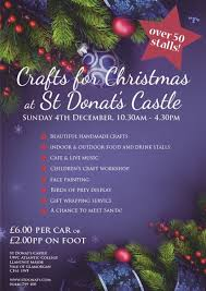 benchpeg crafts for christmas fayre st donat u0027s castle vale of