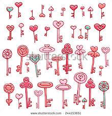 doodle edit hearts handdrawing set doodle stock vector 244248901