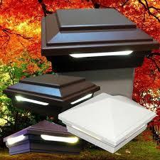 Led Solar Deck Lights - solar deck post lights solar deck lights for x wood posts with