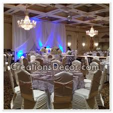 beautiful wedding decorations at the venetian banquet hall in