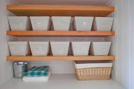 Container Store Shelves by The Container Store Open Canvas Bins Transitional Laundry Room