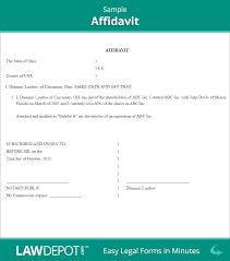 Shareholders Meeting Agenda Template by Sample Affidavit Template Printable Blank Affidavit Masir