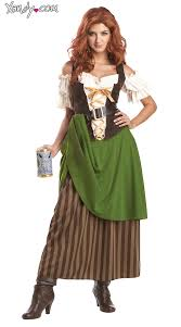 Renaissance Halloween Costume Tavern Maiden Costume Long Beer Costume Beer Maiden