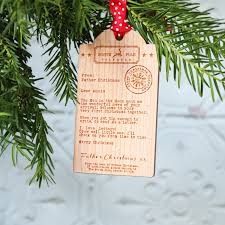 adopted child u0027s first christmas wooden tag telegram decoration