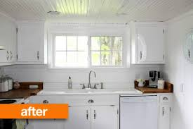 can you whitewash kitchen cabinets before after a white washed kitchen apartment therapy