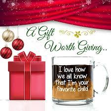 i u0027m your favorite child funny glass coffee mug birthday gifts