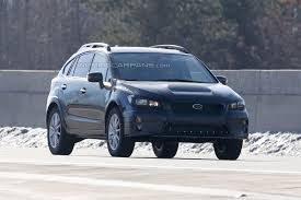blue subaru crosstrek vwvortex com subaru xv crosstrek prototype spied wearing the