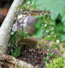 amazon com miniature fairy garden trellis arbor by jeremie