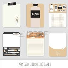 journaling cards notes stickers labels tags with cute