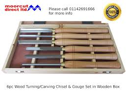 Wood Carving Chisel Set Uk by Moorcut Direct Wood Turning Carving Lathe Gouge U0026 Chisel Set 6pc