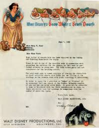 disney rejection letter 1938 sociological images