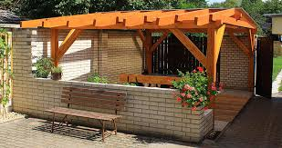 Building A Freestanding Pergola by Pitched Roof Pergola