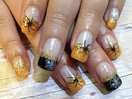 spider halloween nails nails i did gel no acrylic pinterest
