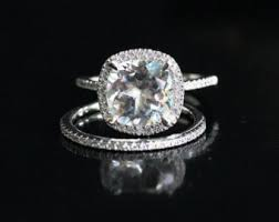 white topaz engagement ring white topaz engagement ring diamond halo 14k white gold white