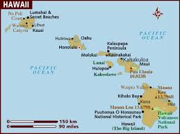 map usa lonely planet map of hawaii