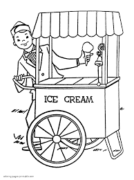 the ice cream man coloring page