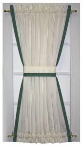 roslyn country door panel curtain with banded edge door window
