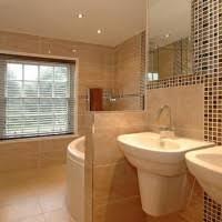 Corner Bathtub Ideas Fascinating Bathroom Design Ideas Featuring Brown Tiles Wall And