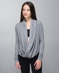 wrap sweater top lululemon iconic wrap heathered medium grey lulu fanatics