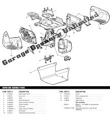 Elite Garage Door by Liftmaster 3840 Screw Drive Elite Series Replacement Parts