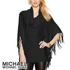 black fringe sweater witusa rakuten global market michael kors sweater cowl