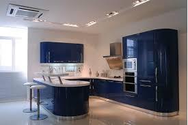 blue modern kitchen cabinets blue lacquer modern kitchen cabinet