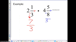 tbms 7th grade math 3 4 multiplying mixed fractions youtube
