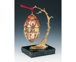 faberge bronze gold plated ornament stand holder
