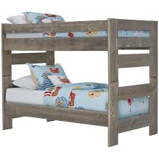 City Furniture Beds City Furniture Cinnamon Gray Bunk Bed