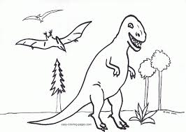 dinosaur coloring pages kids coloring