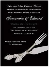 formal luncheon invitation formal modern cutlery black rehearsal invitations stationery
