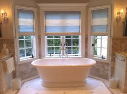 masterly patterned in archaic design bathroom window treatments