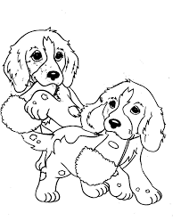 two little dogs coloring page of kidz coloring point