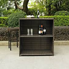 Home Bar Sets by Crosley Palm Harbor 3 Piece Outdoor Wicker Patio Bar Set Hayneedle