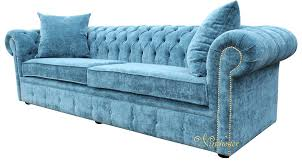 fabric chesterfield sofa chesterfield 4 seater settee elegance teal velvet fabric sofa offer