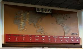 World Time Clock Map by File World Map And Time Zone Clocks At Don Mueng Airport Bangkok