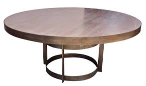 round wood and metal dining table dining room