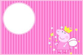 peppa pig fairy invitations free party printables