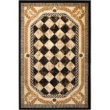 Black And Gold Rug Fleur De Lis Living Janis Black Area Rug U0026 Reviews Wayfair