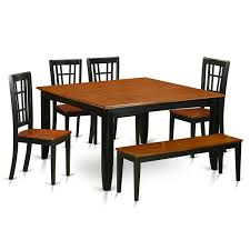 4 Piece Dining Room Set 9 Pc Solid Wood Rustic Contemporary Dinette Dining Room Solid