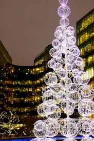 Outdoor Topiary Trees With Lights Christmas Trees In London Large Led Christmas Tree Outside City