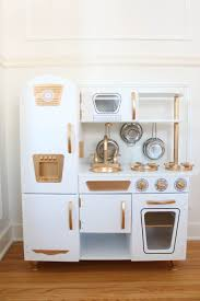 cuisine kidkraft vintage diy gold and white kitchen a daydream playroom