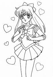 sailor moon coloring pages venus cartoon free download sailor