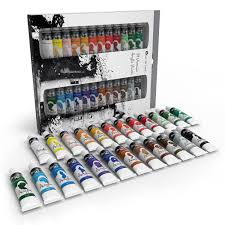 castle art supplies acrylic paint set for beginners students or artists 12 ml